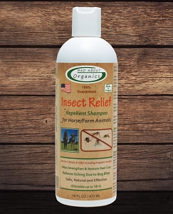 Organic Herbal Insect Relief Repellent Shampoo formulated for Horse & Farm Animals 16oz