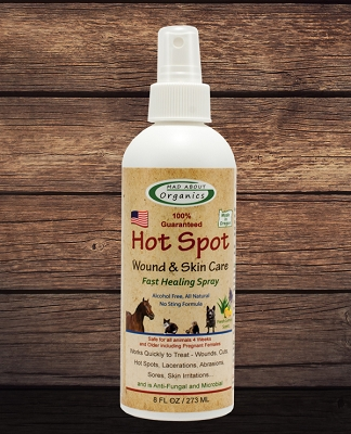 Organic Healing Herbal Hotspot Wound and Skin Care Spray 8oz