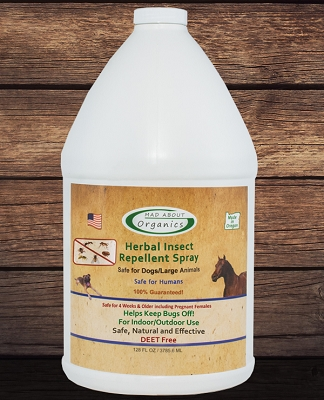 Organic Herbal Insect Repellent Spray for Dogs and Large Animals Gallon Refill