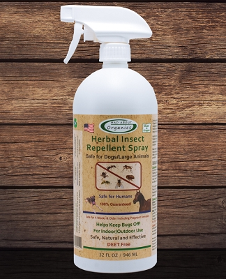 Organic Herbal Insect Repellent Spray for Dogs and Large Animals