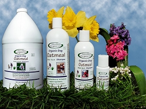 Organic Oatmeal Shampoo Formulated for Dogs