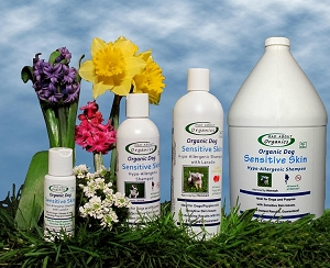 Organic Sensitive Skin Shampoo with Lanolin Formulated for Dogs