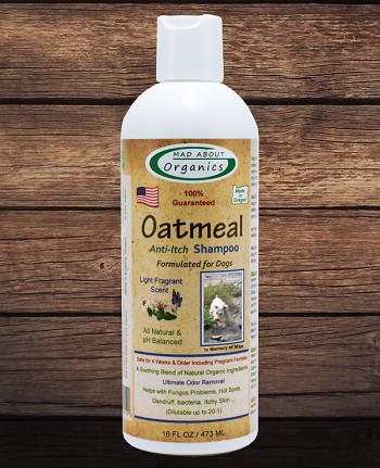 Organic Oatmeal Anti-Itch Shampoo 16oz Formulated for Dogs