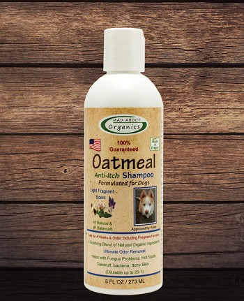 Organic Oatmeal Anti-Itch Shampoo 8oz Formulated for Dogs