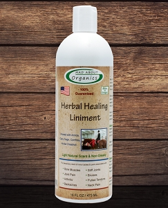 Organic Herbal  Healing Liniment 16oz