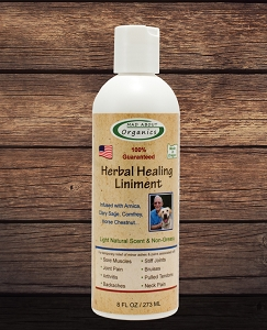 Organic Herbal  Healing Liniment 8oz