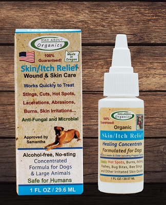 Organic Skin - Itch Herbal Topical Treatment Formulated for Dogs 1oz