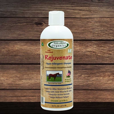 Organic Rejuvenate Shampoo for Horse and  Farm Animals 16oz