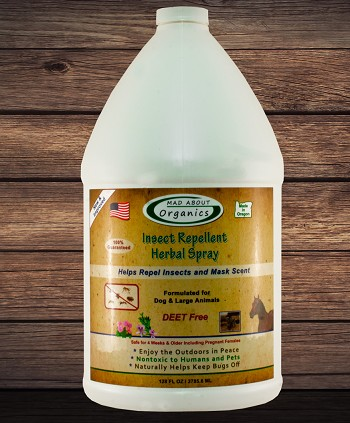 Organic Insect Repellent Herbal Spray for Dogs and Large Animals Gallon Refill