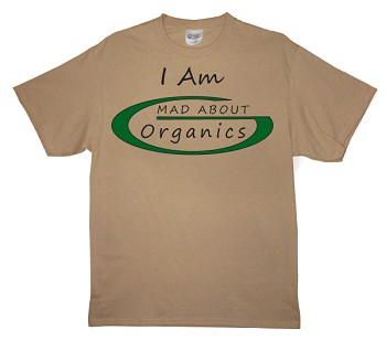 Men's Mad About Organics Logo T-Shirt Front