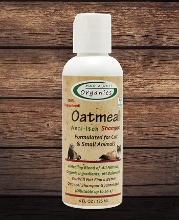 Organic Oatmeal Anti-Itch Shampoo 4oz Formulated for Cats and Small Animals