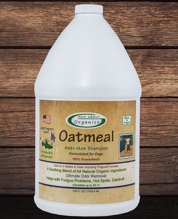 Organic Oatmeal Anti-Itch Shampoo 1 Gallon Formulated for Dogs