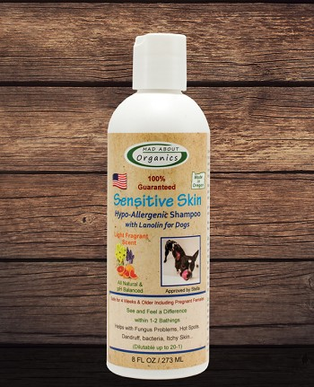 Sensitive Skin Hypo-Allergenic Shampoo 8oz Formulated for Dogs